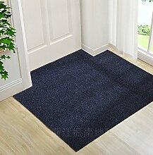 Upper-Ultra Thin pads Veranda Tür Tür Tür Fußmatte Fußmatte vor der Haushalt Teppich custom Cut, 120 x 160 cm, grau