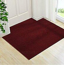 Upper-Ultra Thin pads Veranda Tür Tür Tür Fußmatte Fußmatte vor der Haushalt Teppich custom Cut, 100 x 120 cm, Weinro
