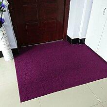 Upper-Ultra Thin pads Veranda Tür Tür Tür Fußmatte Fußmatte vor der Haushalt Teppich custom Cut, 120 x 150 cm, lila
