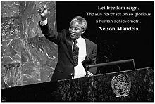 UpperPin Nelson Mandela Von United Nations Zitiert