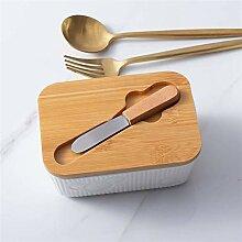 UPSUNNY-DE Butterdose Porzellan-Butterdose mit