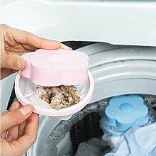 Upxiang Unterlegscheibe Filtertasche Mesh, Filterung Haarentfernung Gerät, Wolle schwimmende Stil Wäsche Reinigung benötigt (Rosa)