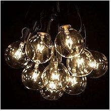 Urase Lichterkette Glühbirne G40 Außen