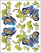 Urban Elementz Tattoo Elementz Aufkleber Butterfly