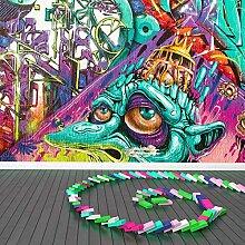 Urban Graffiti Wandbild Retro Street Art Foto-Tapete Kinderzimmer Dekor Erhältlich in 8 Größen Mittel Digital