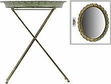 Urban Trends Metall-Tisch mit Spiegel Oberfläche