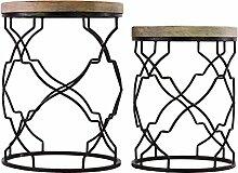 Urban Trends Metalltisch zylindrisch mit