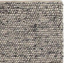 URBANARA Teppich Ravi - Eierschale Grau 140 x 200