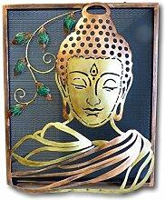 UrbanDesign Buddha Wandbild Metall 3D Bild Wand