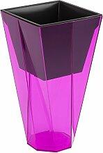 Urbi Twist Blumentopf, Pink transparent Farbe