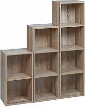 URBN Living Set von 3 Holz Bücherregal (Eiche
