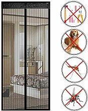 URIJK Fliegengitter Tür Magnet Insektenschutz Balkontür Ohne Bohren Fliegenvorhang Magnetvorhang Moskitonetz Vorhang für Wohnzimmer Schiebetür Balkontür Terrassentür