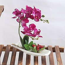 URIJK Künstliche Blumen Topf Simulation Blumen