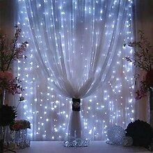 URIJK LED Lichterkette 3mx3m 300 LEDs Gardine