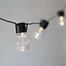 Urijk Lichterkette Außen Deko String Glühbirnen