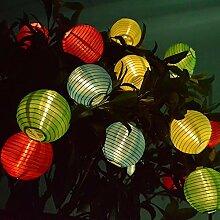 URIJK Solar Lichterkette 20 LEDs Mini Lampions