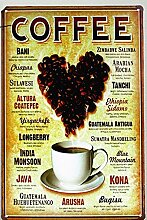 Urlaub Dekoration & Geschenk Kaffeebohnen Wall Sticker Tin Sign Art Wall Dekor Cafe Bar Retro Metall Poster