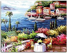 Urlaub DIY Malen Nach Zahlen Kits Zeichnen Malen