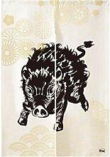 Urtale Türvorhang mit Wildschwein-Motiv,