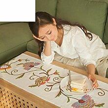 US-amerikanischer Country-Tischl?ufer/Stickerei-Tisch-Tischl?ufer/Bett-Tücher-A 260x40cm(102x16inch)