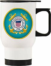 US Coast Guard Edelstahl-Autobecher silber 440ml