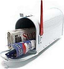 US Mailbox Amerikanisches Design Weiß Briefkasten