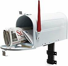 US Mailbox Briefkasten Amerikanisches Design weiß
