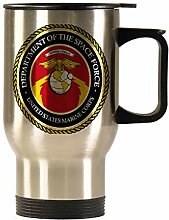 US Space Force Auto-Becher, Edelstahl,