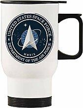 US Space Force Edelstahl-Autobecher, silberfarben