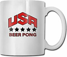 Usa Beer Pong Team Tea Cup Novelty Gift for Lovers