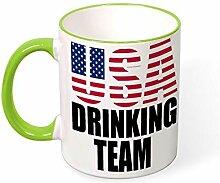 Usa Drinking Team Travel Best Funny Coffee Mug