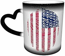 Usa Flag Dna 14 Unzen Becher Isolierte Porzellan