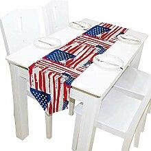 USA Flagge Tischläufer, Tischdecke Läufer für