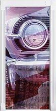 USA Oldtimer Traum als Türtapete, Format: 200x90cm, Türbild, Türaufkleber, Tür Deko, Türsticker