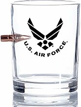 USAF Bullet Old Fashion US Air Force Whiskey Rocks