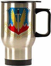 USAF Tactical Air Command Edelstahl-Autobecher,