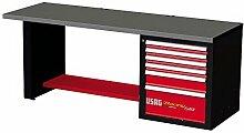 USAG 519RB2u05192016Werkbank Racing, mit Tischplatte aus Edelstahl, mehrfarbig, U05192004