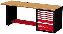 USAG 519RB2u05192016Werkbank Racing, mit Tischplatte aus Edelstahl, mehrfarbig, U05192013