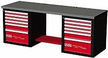 USAG 519RB2u05192016Werkbank Racing, mit Tischplatte aus Edelstahl, mehrfarbig, U05192012