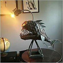 USB Angler Hai Anglerfisch Lampe Schmiedeeiserne