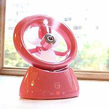 Usb-anschluss zum Laden der Befeuchtung kleiner Ventilator/doppelten Zweck spray kleine Lüfter/Mini Laptop touch Ventilator, pink, 15 * 8,3 * 19,2 cm