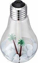 USB Aroma Diffuser Glühbirne Luftbefeuchter Humidifier Essential Oil Duftzerstäuber Ultraschall Ultrasonic Farbwechsler (Silber)