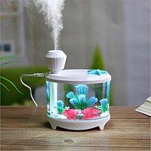 USB Aufladen Fisch Tank Lichter Luftbefeuchter Mini Home Kleine Nacht Licht Spannung: 5V Anwendbar auf: Schlafzimmer Büro Baby Zimmer Hotel Wohnzimmer Café , white