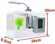 USB-Desktop Mini-Aquarium LED-Schreibtisch Lampe
