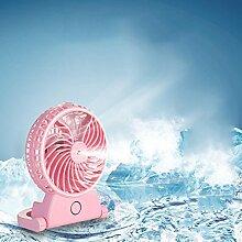 USB-Ladegerät kleine Fan-Spray Wasser Luftbefeuchter kleine elektrische Fan-Desktop-Office-Student stumm , pink