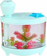 USB Luftbefeuchter für Zuhause Mini Nacht Licht der Aquarium Büro Luftreiniger Luftbefeuchter Candy Green