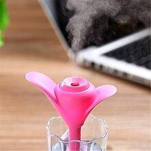 USB-Mini-Luftbefeuchter für Desktop im Büro, zu Hause, im Schlafzimmer, Auto Luftbefeuchter, Rosa