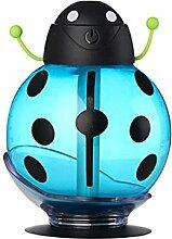 USB Mini Marienkäfer Muster Luftbefeuchter Haus Tisch Dekor - Blau