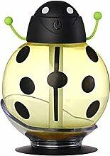 USB Mini Marienkäfer Muster Luftbefeuchter Haus Tisch Dekor - Gelb