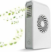 USB Mini Ventilator Fan mit 6000mAh Energienbank, Kleiner Handheld Batterie Schreibtisch Ventilator mit beweglicher Telefon-Aufladeeinheit, am besten in der Reise, Schule, Büro, Küche, im Freiensport, kampierende Ausrüstung. (Weiß)